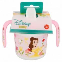 Cvičný hrnek se silikonovým pítkem Princezny / Princess / 250 ml