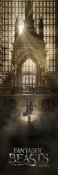 Plakát na dveře Fantastická zvířata / Fantastic Beasts / Teaser 53 x 158 cm / vecizfilmu