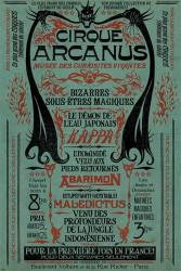 Plakát na stěnu Fantastická zvířata / Fantastic Beasts / Le Cirque Arcanus 61 x 91,5 cm / vecizfilmu