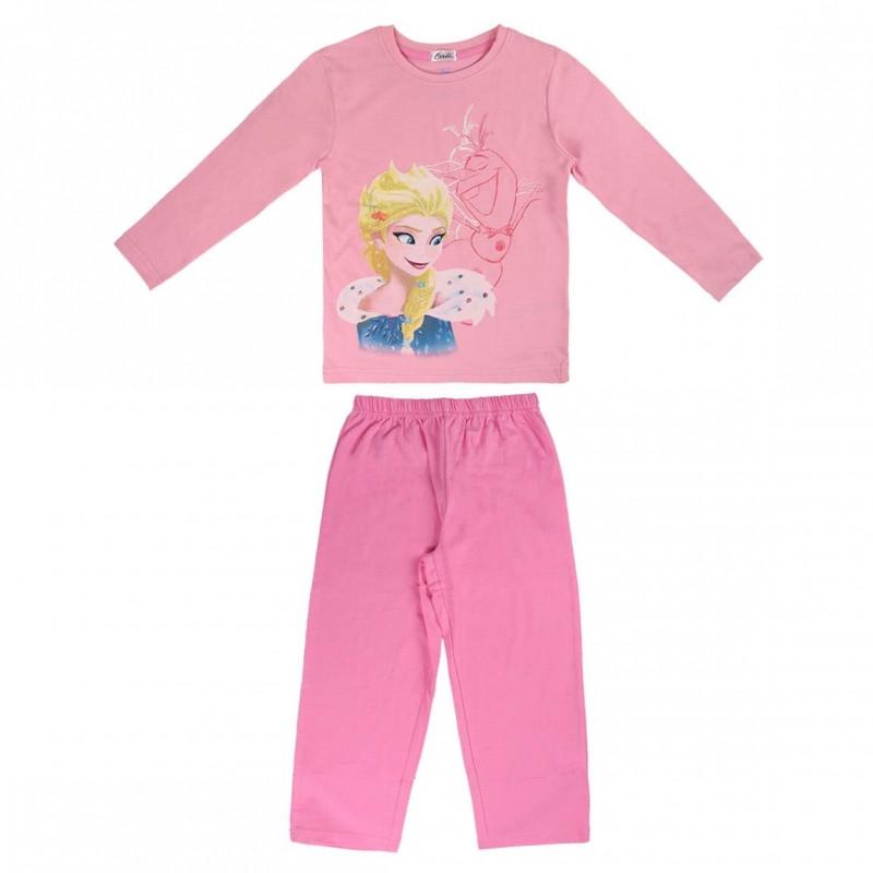 Dívčí růžové pyžamo s dlouhým rukávem Frozen / Elsa / Ledové Království 3 - 7 let