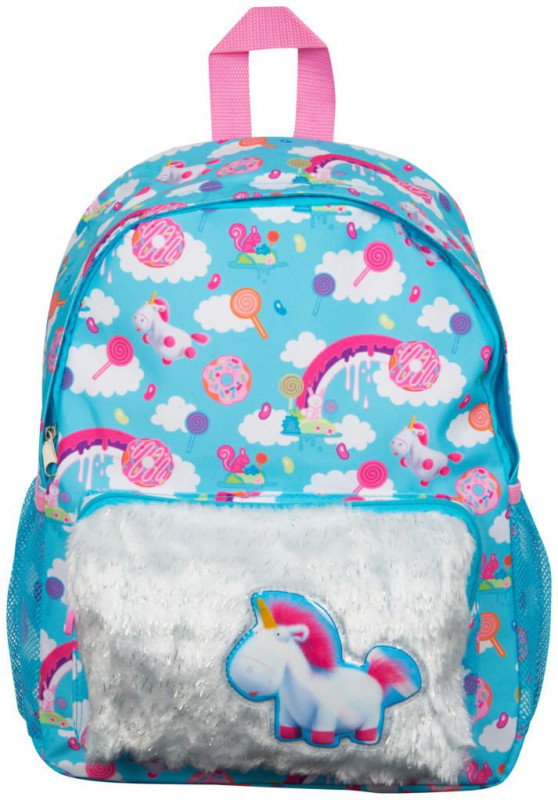 Dívčí batoh Mimoni / Minions Fluffy 38 x 30 x 12 cm blue / pink / vecizfilmu