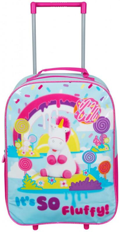 Dívčí batoh na kolečkách s rukojetí Mimoni / Minions Fluffy 27 x 38 x 14 cm / vecizfilmu