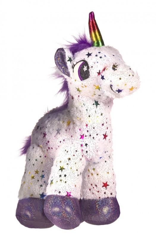 Dívčí hvězdičkový plyšový Jednorožec / Unicorn White 35 x 13 x 15 cm / vecizfilmu