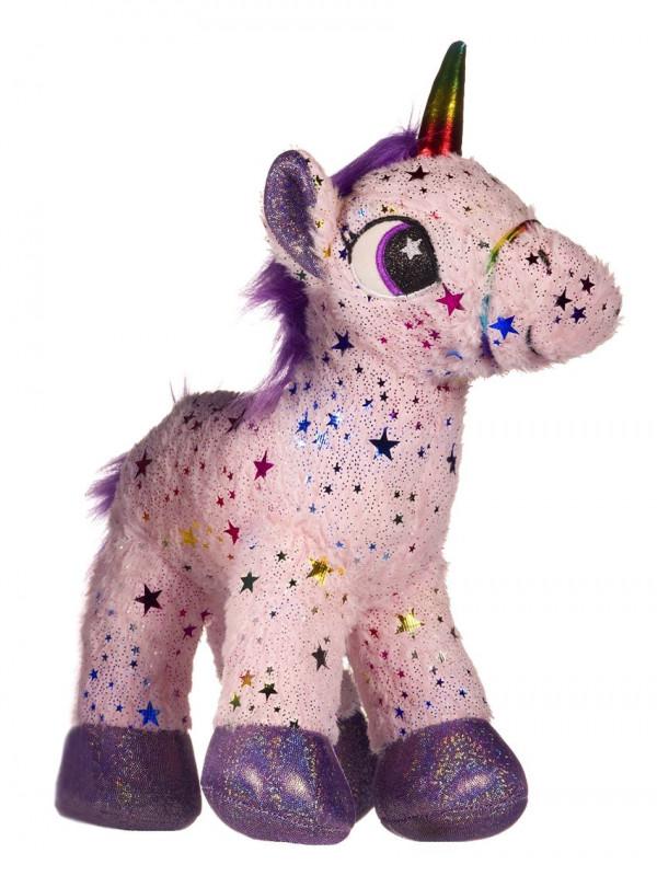 Dívčí hvězdičkový plyšový Jednorožec / Unicorn Pink 35 x 13 x 15 cm / vecizfilmu