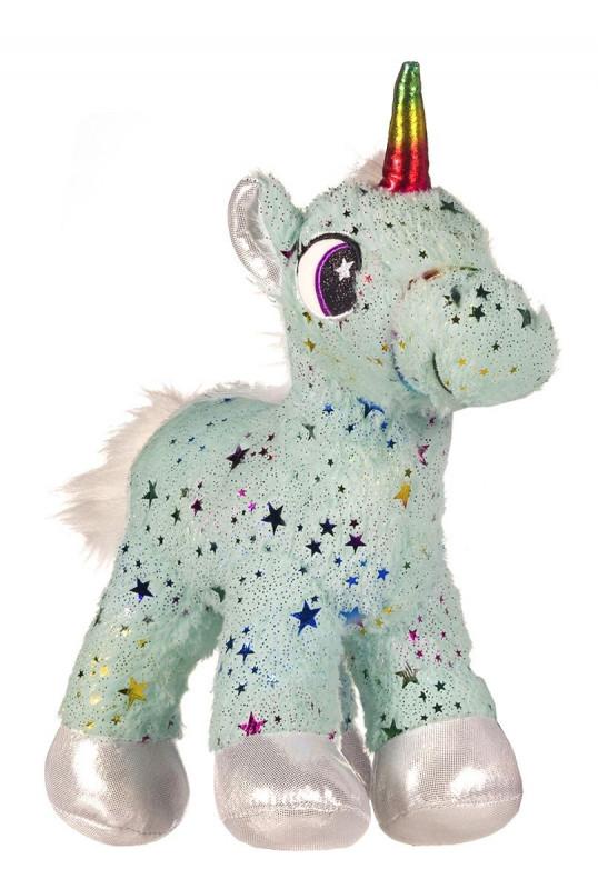 Dívčí hvězdičkový plyšový Jednorožec / Unicorn Green 35 x 13 x 15 cm / vecizfilmu