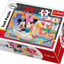 Mini puzzle Myška Minnie a Mickey Mouse / Love 54 dílků