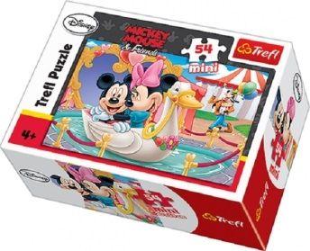 Mini puzzle Myška Minnie a Mickey Mouse / Love 54 dílků / vecizfilmu