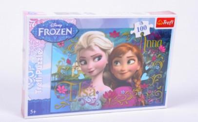 Dívčí puzzle Elsa a Anna Frozen / Ledové Království 100 dílků
