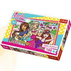 Dívčí puzzle Barbie Friends 100 dílků
