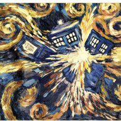 PLAKÁT / DOCTOR WHO / EXPLODING TARDIS / 61 x 91,5 CM
