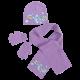 Dívčí fialová sada oblečení / čepice / šála / rukavice Frozen / Anna / Elsa / Olaf 52 cm / vecizfilmu