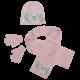 Dívčí růžová sada oblečení / čepice / šála / rukavice Frozen / Anna / Elsa / Olaf 52 cm / vecizfilmu