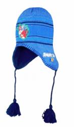 Chlapecká světle modrá čepice / ušanka Angry Birds Rio velikost 54 cm