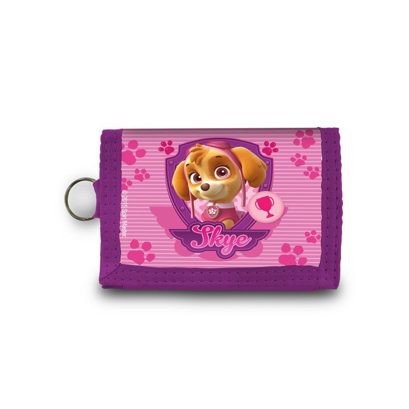 Dívčí růžová peněženka na suchý zip Skye Paw Patrol / Tlapková Patrola / vecizfilmu