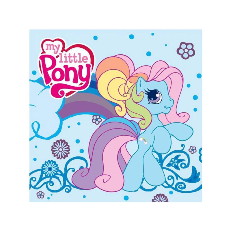 Magický dívčí ručník My Little Pony modrý 30 x 30 cm