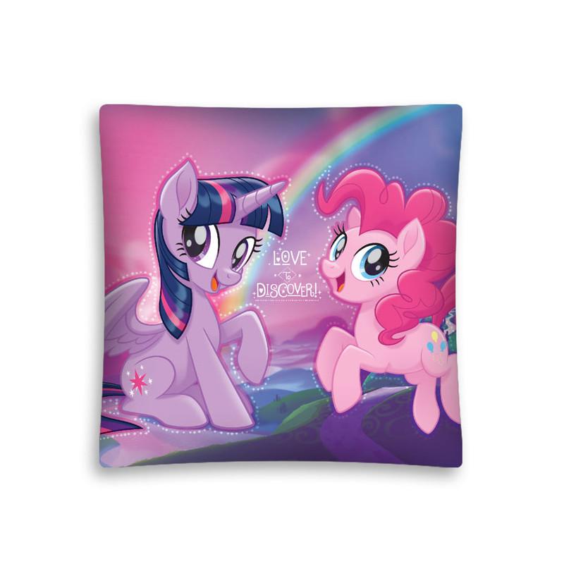 Dívčí povlak na polštář My Little Pony Duha 40 x 40 cm