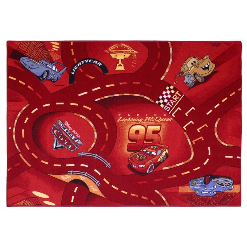 Koberec Cars červený / 95 x 133 cm