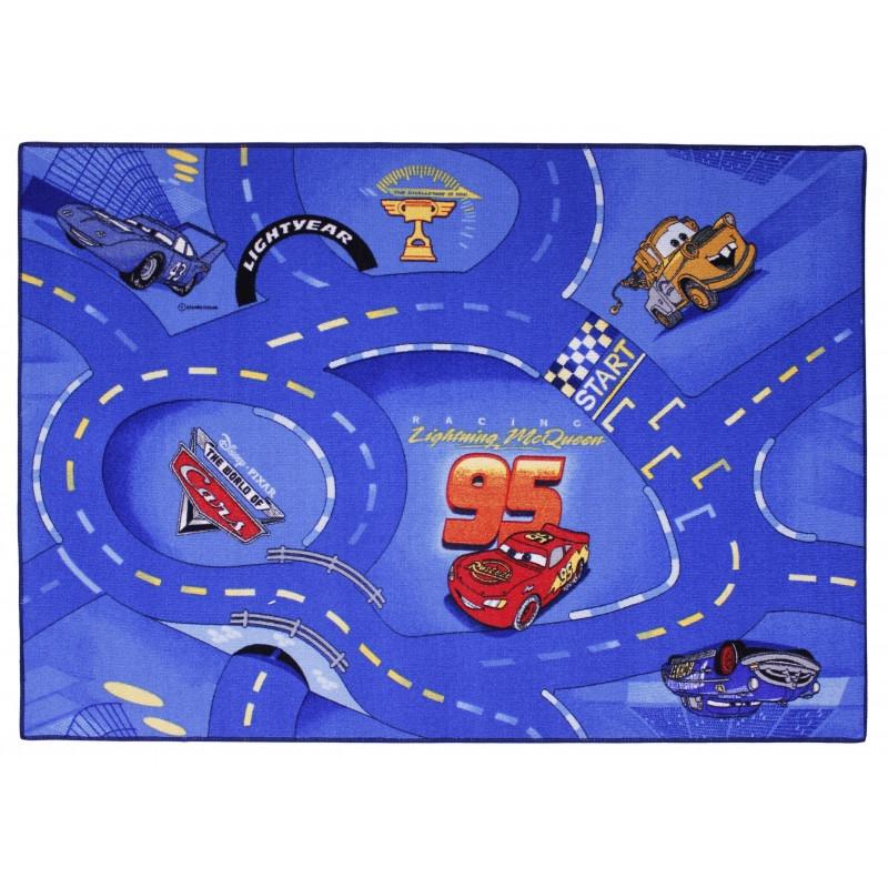 Koberec Cars modrý / 95 x 133 cm