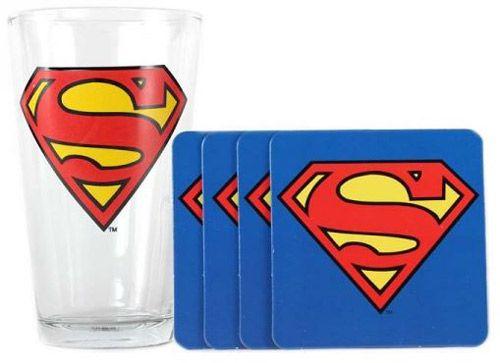 SKLENICE / 4 TÁCKY / DC COMICS /  SUPERMAN