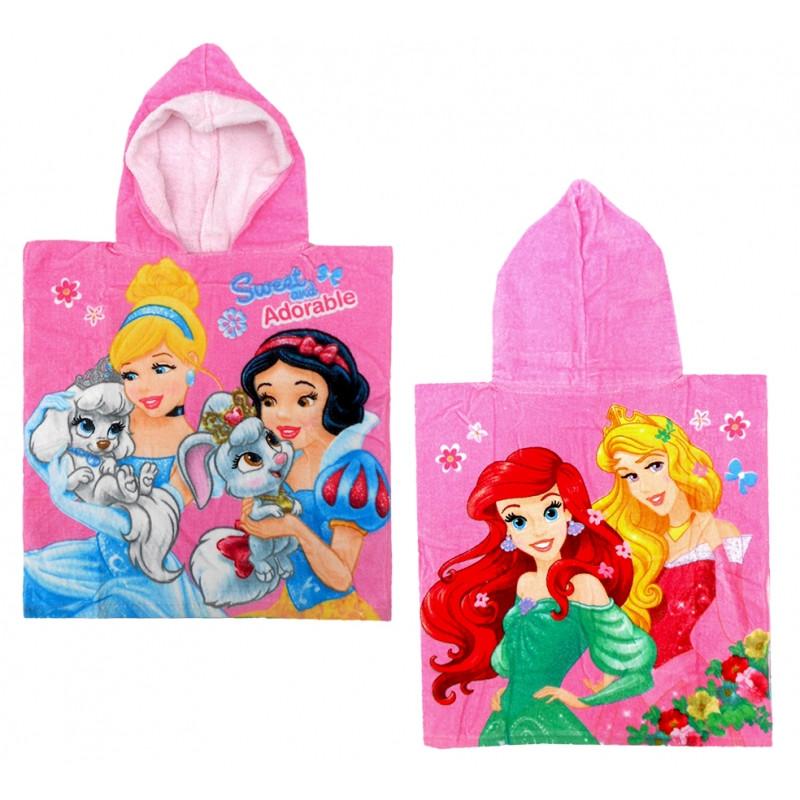 Dívčí pončo růžové Princezny / Princess / 50  x 100 cm