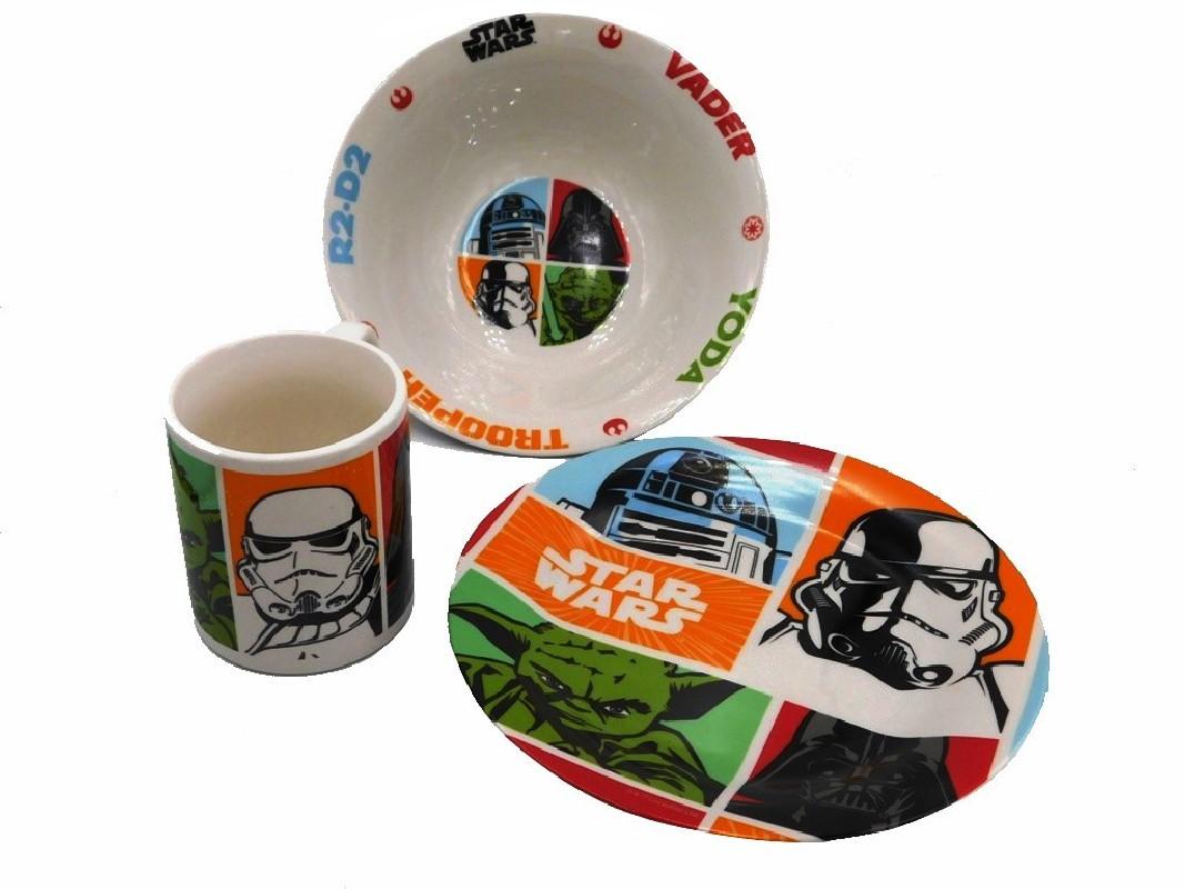 Keramická jídelní sada Star Wars / Hvězdné Války / miska talíř hrnek / vecizfilmu