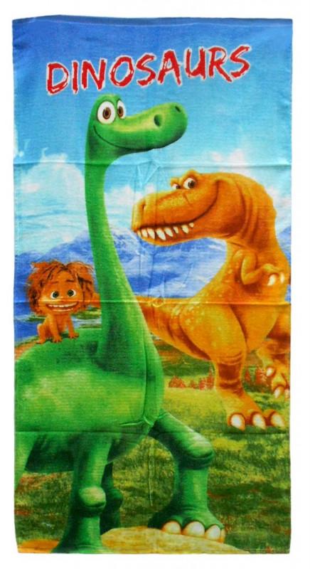 Plážová osuška / ručník / Hodný dinosaurus / 70 x 140 cm