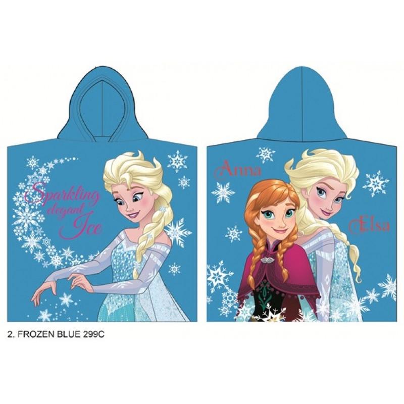 Dívčí pončo / ručník modrý Frozen / Ledové království / 60 x 120 cm