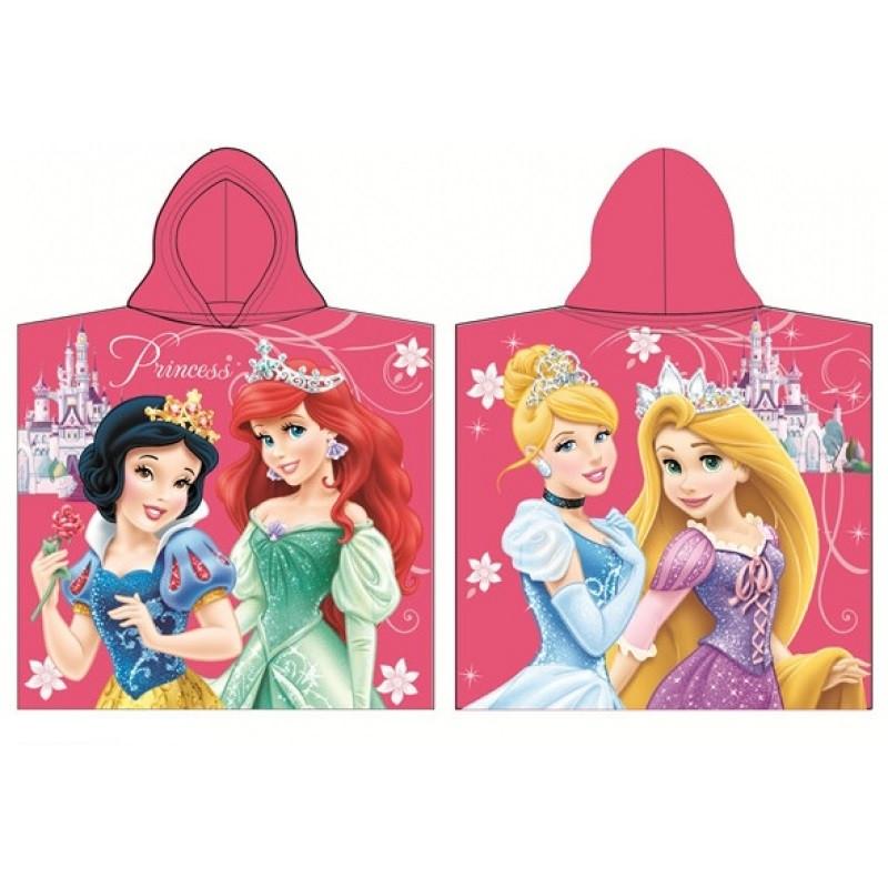 Dívčí pončo / ručník korálový Princezny / Princess / 60 x 120 cm