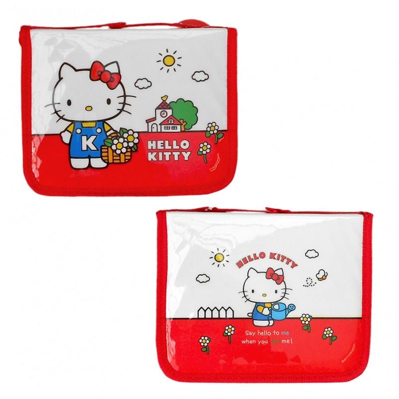 Penál / Pouzdro s výbavou Hello Kitty / 16 x 20 x 4 cm
