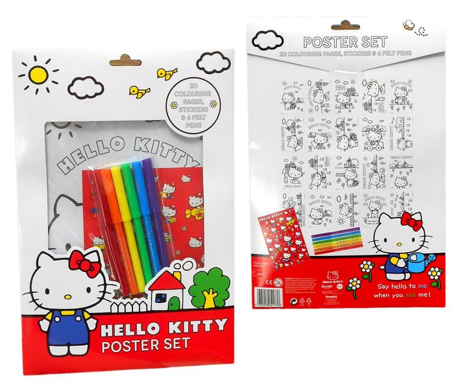 Omalovánky, nálepky, fixy Hello Kitty  / A4