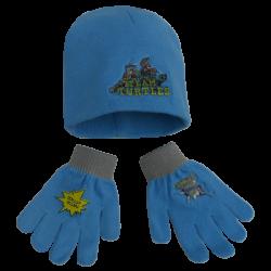 Podzimní / zimní set Želvy Ninja / čepice, rukavice / vel: 54 cm