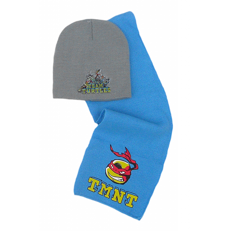 Podzimní / zimní set Želvy Ninja / Ninja Turtles / čepice, šála /  54 cm