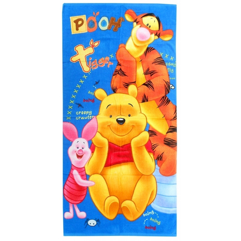 Plážová osuška / ručník Medvídek Pú a přátelé / Winnie the Pooh / 70 x 140 cm