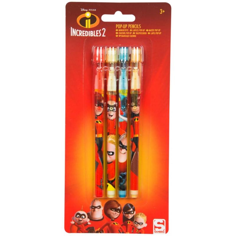 Posunovací tužky Úžasňákovi / Incredibles / 1 x 22 x 10 cm / 4 kusy v balení