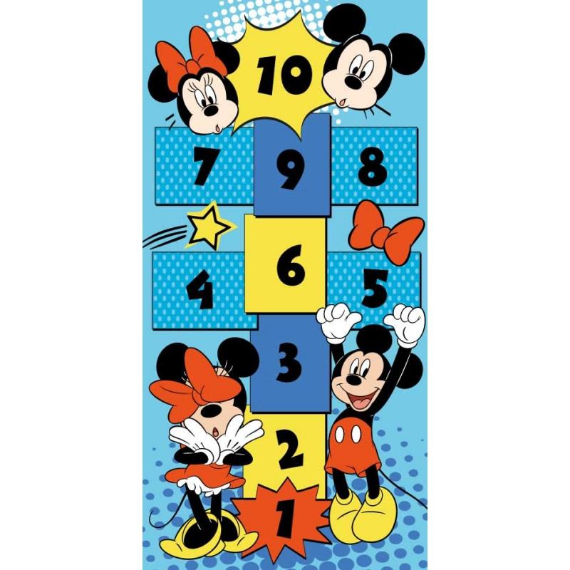 Koberec se zábavnou hrou Panák na skákaní Mickey Mouse / 80 x 160 cm
