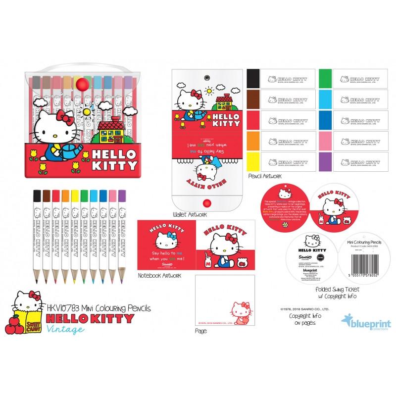 Pastelky Hello Kitty /  10 kusů v balení