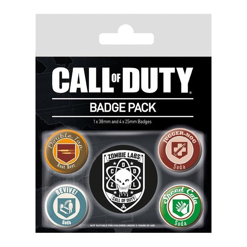 Sada 5 ks odznaků s motivem PC hry Call Of Duty / SODA