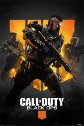 Plakát na stěnu PC hra Call Of Duty / Black Ops 4 / TRIO 61 x 91,5 cm / vecizfilmu