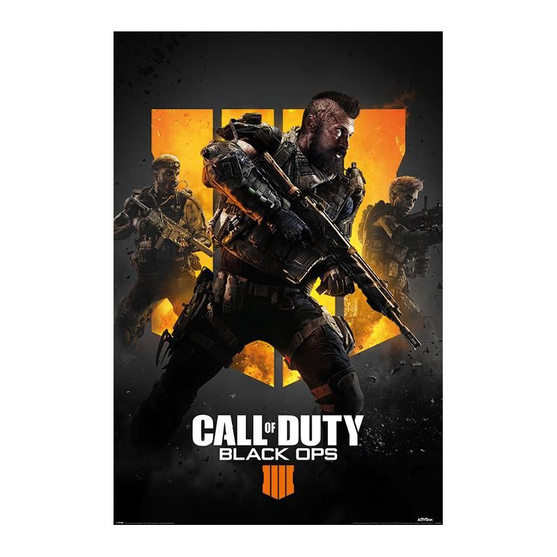Plakát na stěnu PC hra Call Of Duty / Black Ops 4 / TRIO 61 x 91,5 cm