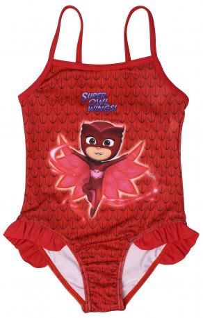 Dívčí červené jednodílné plavky Sovička Amaya   PJ Masks   Pyžamasky   2 -  6 let 1ec9ef6d34