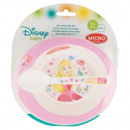 Dívčí jídelní sada / plastová miska se lžičkou Princess / Princezny