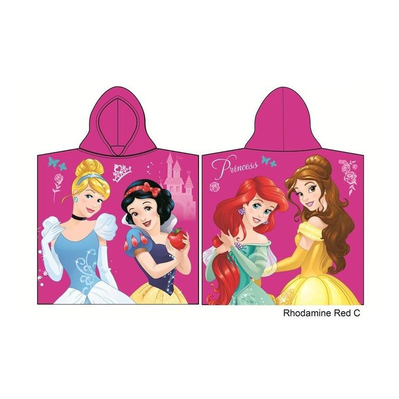 Dívčí ručník / pončo s kapucí Princezny / Princess 60 x 120 cm