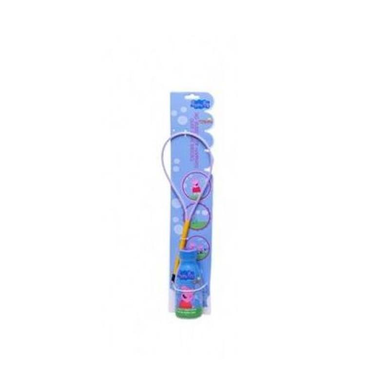 Obruč na bubliny a náplň pro bublifuk / Prasátko Pepa /  250 ml