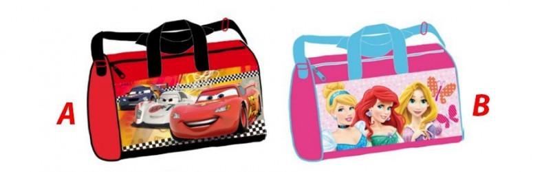 Taška Sportovní Disney Cars / Princess 37 x 21 x 20 cm