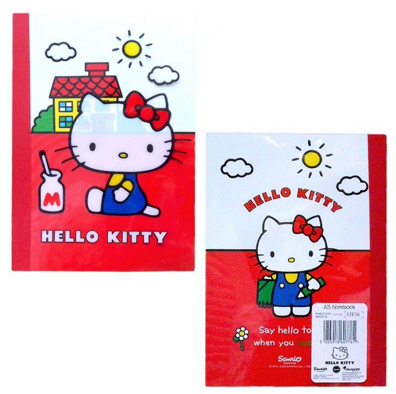 Dívčí linkovaný A5 deník s přátelskou kočičkou Hello Kitty