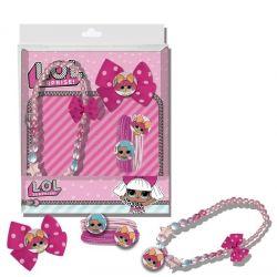Dívčí sada pro fanynky LOL Surprise / náhrdelník a vlasové doplňky