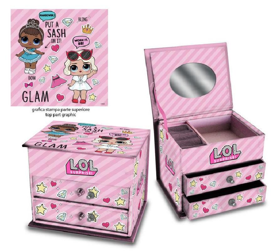 Dívčí šperkovnice se šuplíčky a zrcátkem LOL Surprise 13 x 10 x 10 cm    vecizfilmu 83cd72f65e