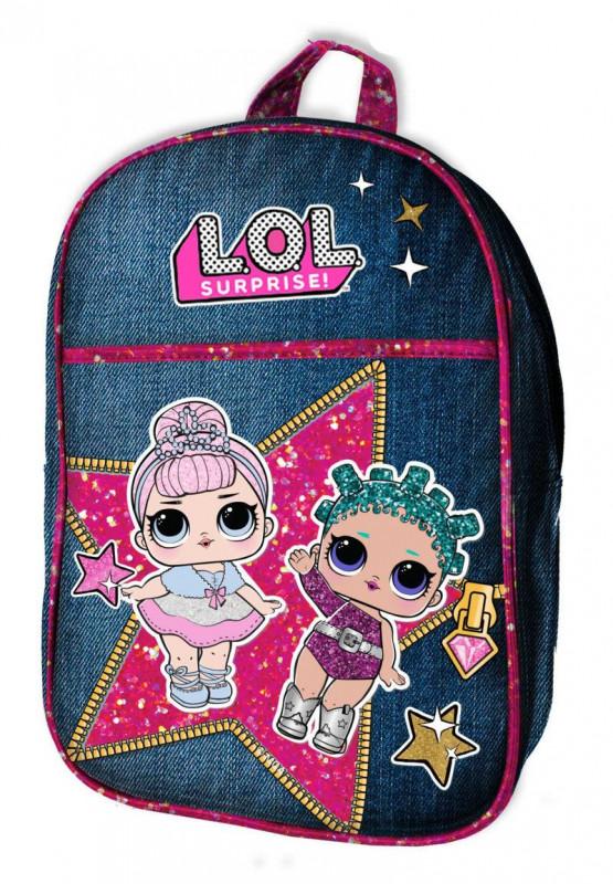 Dívčí riflový batoh pro fanynky LOL Surprise Třpyt 21 x 29 x 8 cm    vecizfilmu 21336f16a4