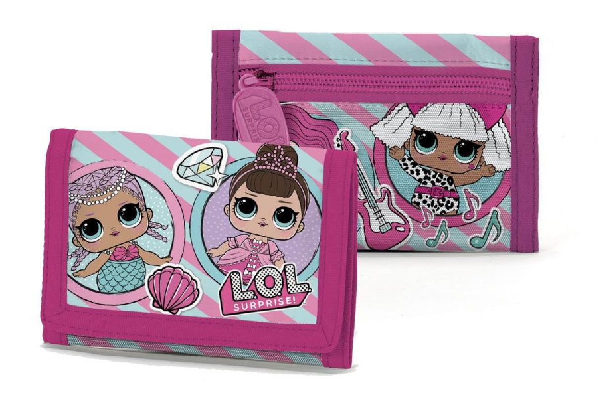 Dívčí rozkládací peněženka pro fanynky LOL Surprise 13 x 8 cm