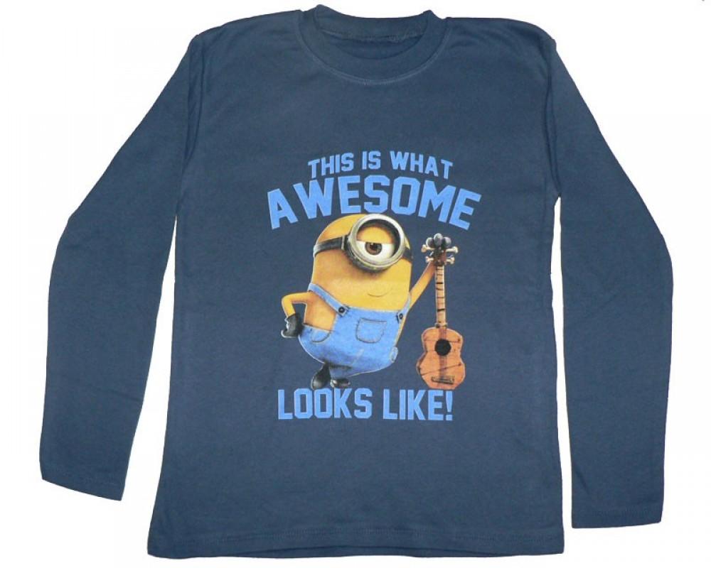 Dětské tričko Mimoni modré